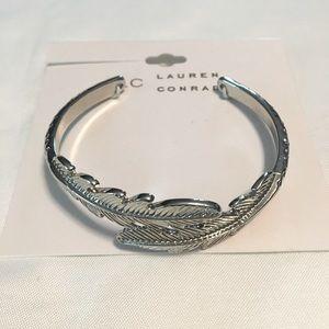 Lauren Conrad Silver Feather Cuff Bracelet